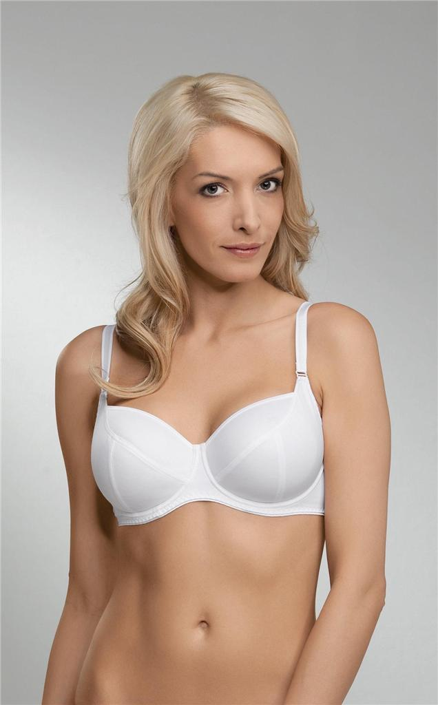 naturana underwired non padded white full cup bra rrp 16314