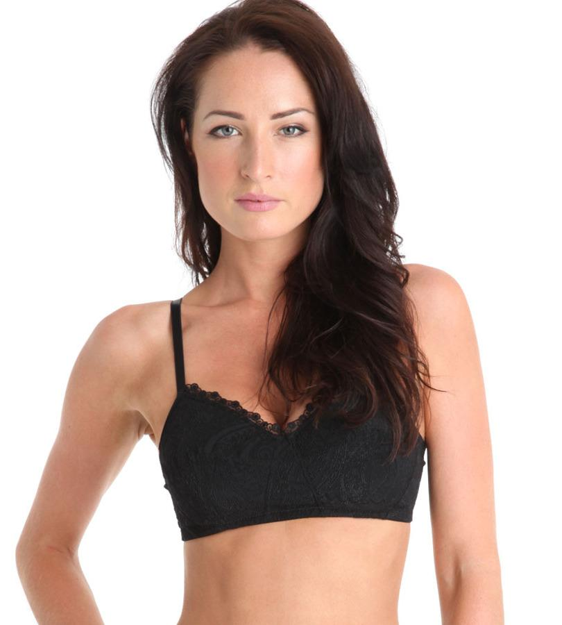 Naturana-Nostalgia-Black-Supportive-Soft-Full-Cup-Bra-5591-RRP-15-New-Lingerie