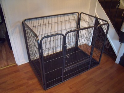 Large Heavy Duty Dog Cage Pet Puppy Whelping Box Crate