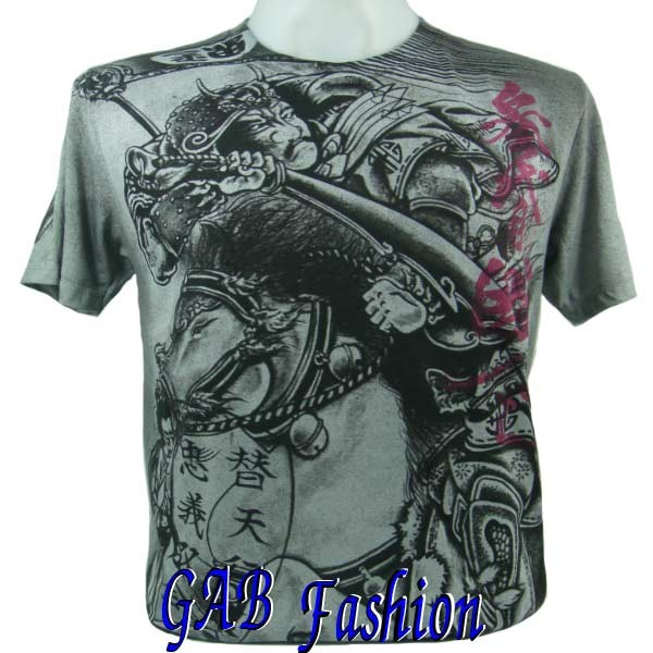 Japanese Samurai Sword Women Ink Tattoo Mens T-Shirt XL. Please wait