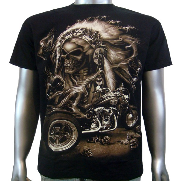 Tattoo american indian chief skull warrior custom harley for Indian motorcycle tattoo
