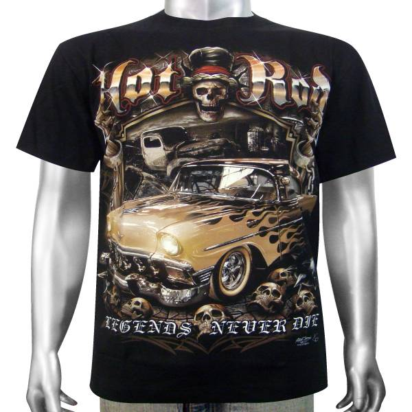 Vintage Classic V8 American Custom Hot Rod Rockabilly Race Car Men ...
