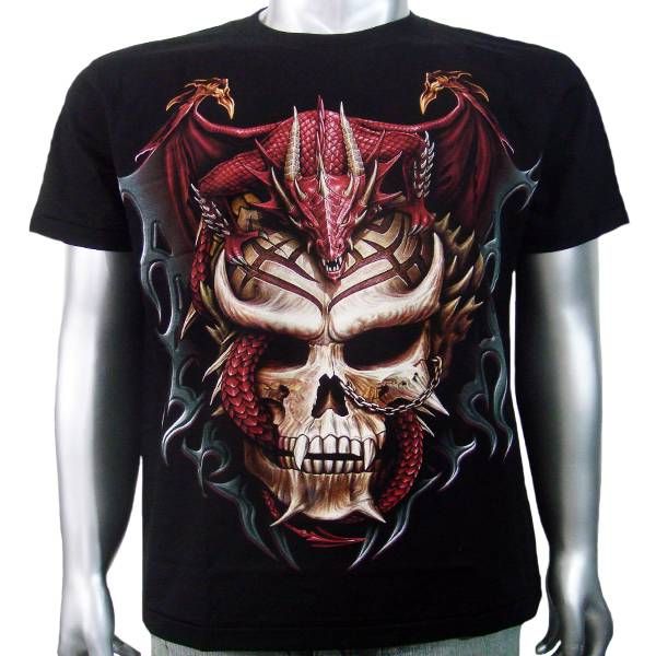 Japanese vampire skull chinese fire dragon breed tattoo for Vampire skull tattoo