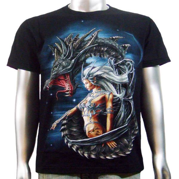 Sexy outfit tattoo pin up girl japanese chinese dragon for The girl with the dragon tattoo t shirt