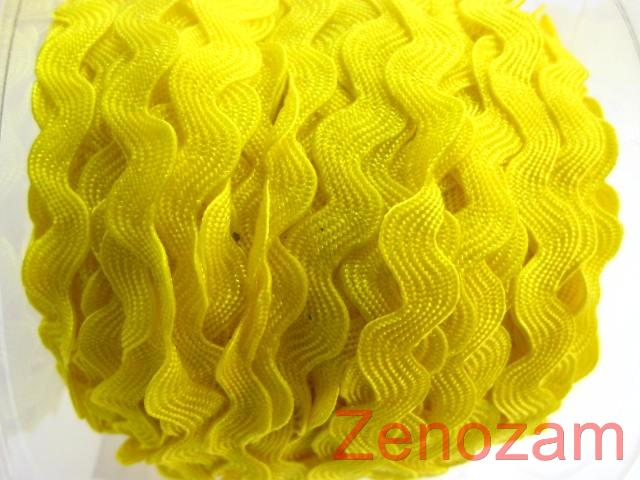 YELLOW-5mm-Four-Meters-RIC-RAC-RIBBON-TRIM-BRAID-Craft-Sewing-zig-zag-Scrapbook