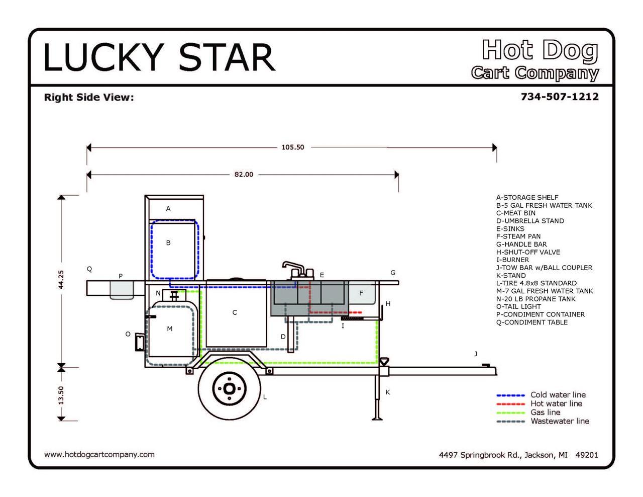 Lucky Star Hot Dog Cart
