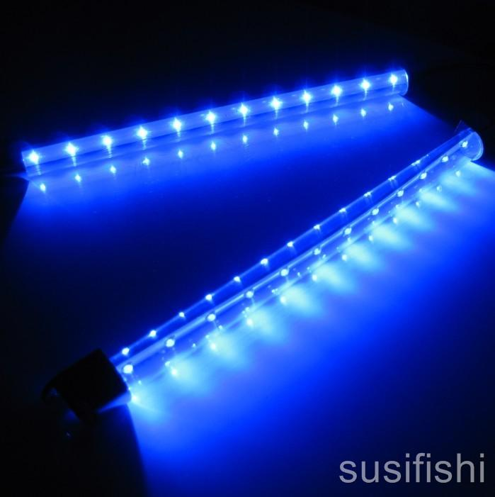 2 x 28cm led beleuchtung aquarium mondlicht licht blau ebay. Black Bedroom Furniture Sets. Home Design Ideas