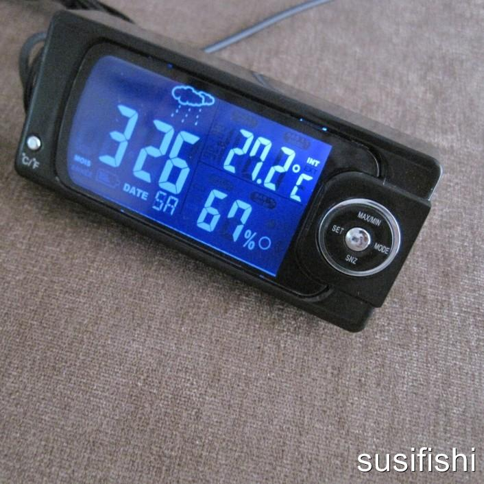 digital auto thermometer innen au en hygrometer uhr ebay. Black Bedroom Furniture Sets. Home Design Ideas