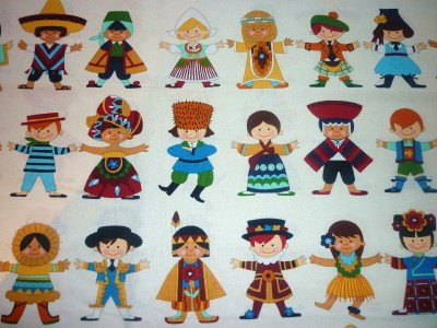 Fq you and me children of the world fabric alexander henry for Children of the world fabric