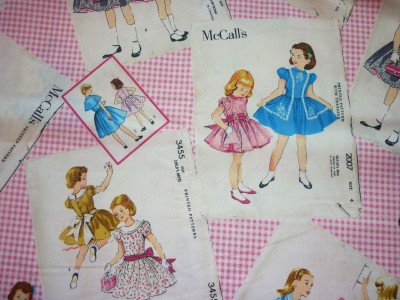 Fq mccalls old fashioned sewing patterns girls children for Children s material sewing
