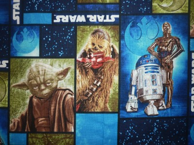 Fq star wars sci fi yoda chewbacca space fabric retro for Retro space fabric uk