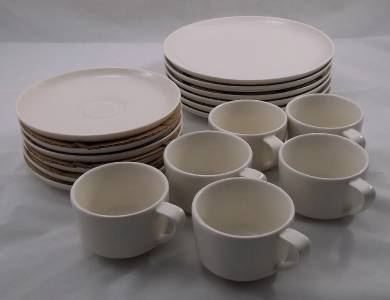 villeroy boch vivo just u white 18 piece coffee tea set new boxed. Black Bedroom Furniture Sets. Home Design Ideas