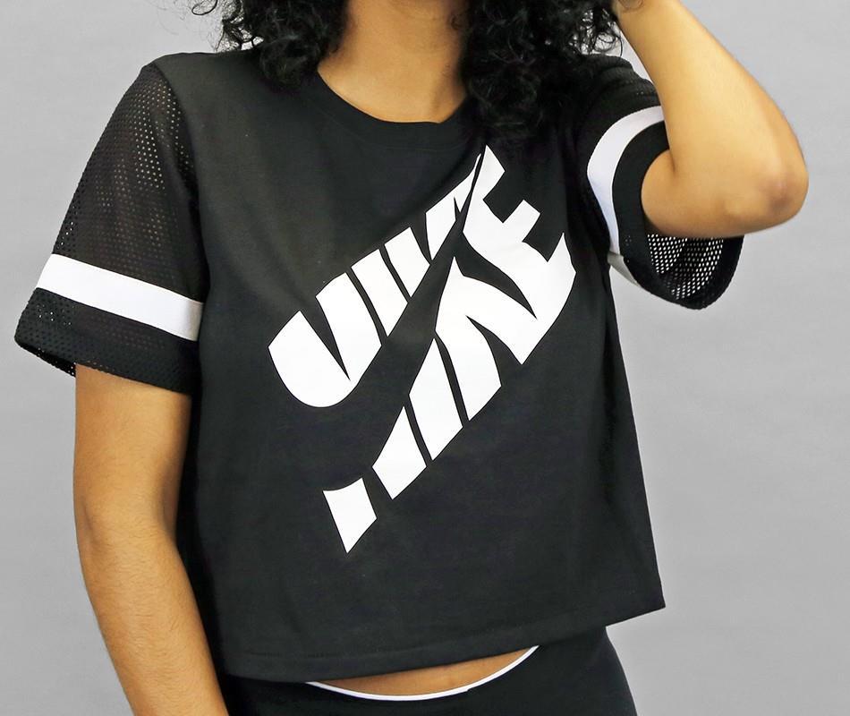 nike women 39 s prep mesh crop top workout t shirt 725812. Black Bedroom Furniture Sets. Home Design Ideas