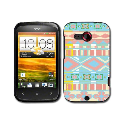 Various Designs Hard Back Clip-On Shell Case Skin Cover For HTC Desire C