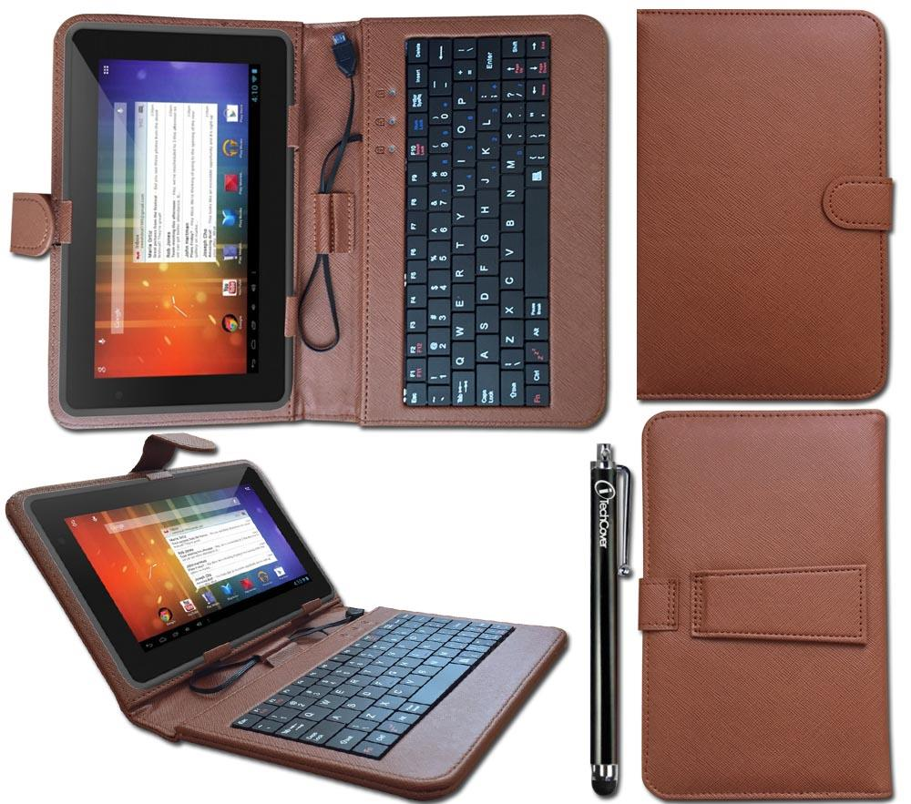 Keyboard Case Leather Cover Wallet Stand Folio for 7-8 ...