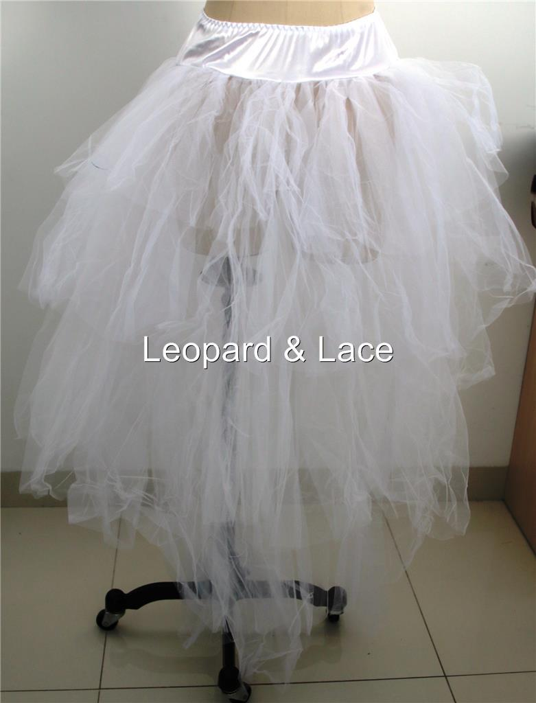 how to make a long tulle bustle skirt