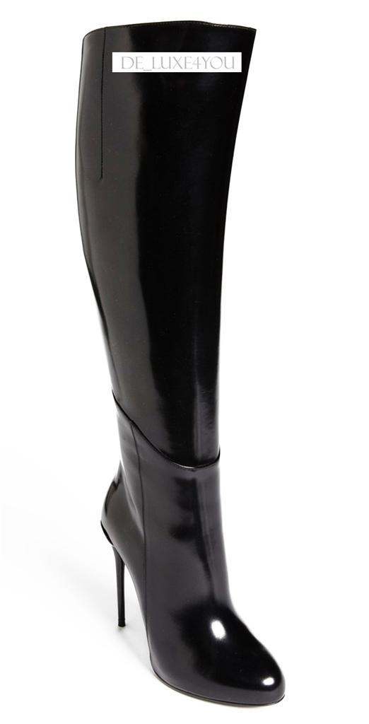 new 1890 gucci platform knee high stiletto heel black