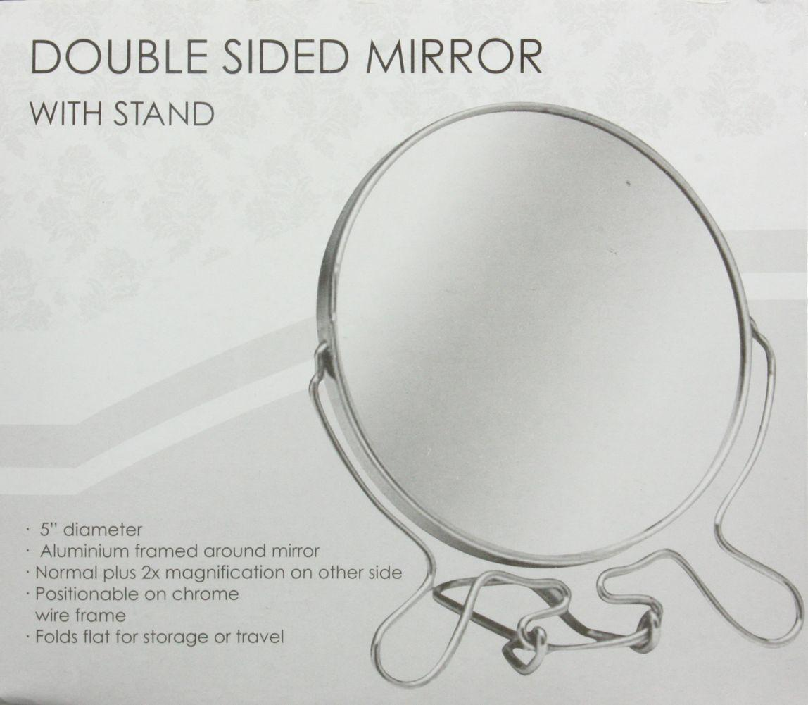 5 or 7 double sided mirror cosmetic makeup shave 5 or 7 for Double mirror effect