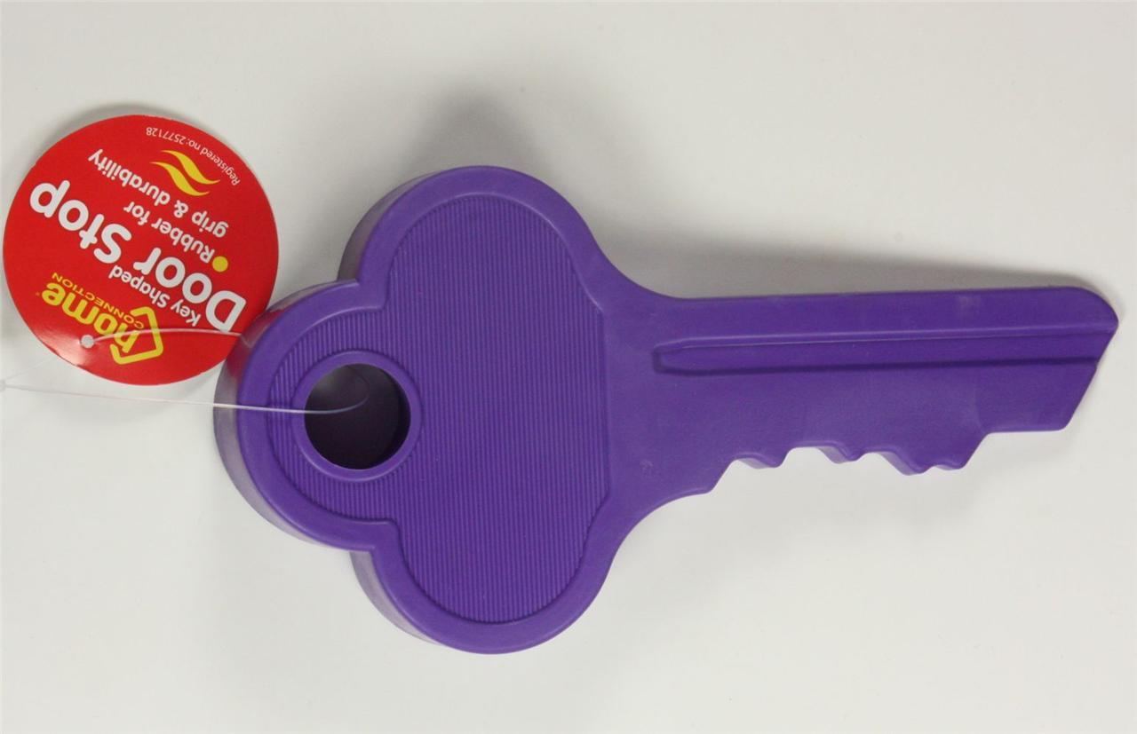 Rubber key shape novelty door stop wedge 16 cm long pink purple green doorstop ebay - Novelty doorstop ...