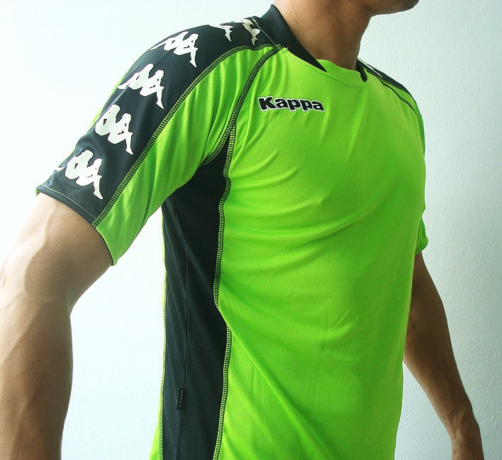 KAPPA-Mens-Football-Soccer-Jersey-Shirt-Green-M-L-XL