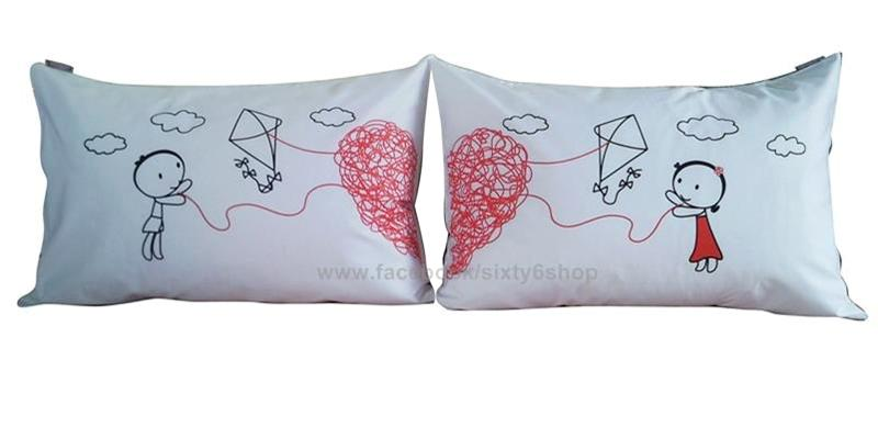 valentine gift sweet lover couple pillow case set