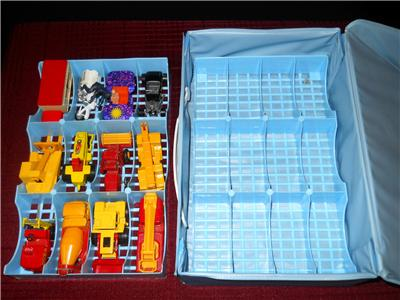 Collectors Case & 12 Cars Lesney Superfast Heavy Machinery Rescue