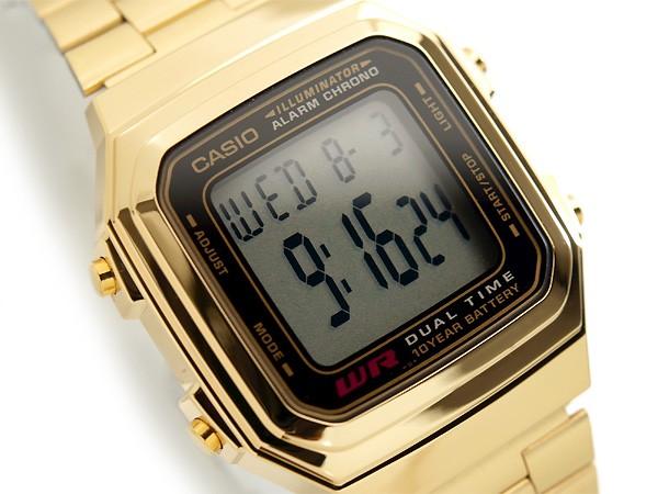 casio illuminator retro vintage gold digital a178