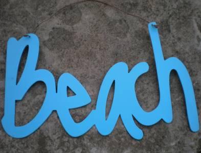 BEACH Metal Sign Seaside Tropical Paradise Coastal