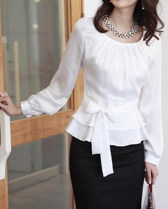 White Dress Blouses 117