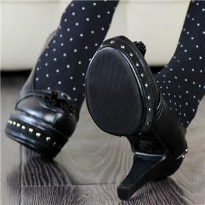 stylish women shoes studded tassel detail platform high heel dress