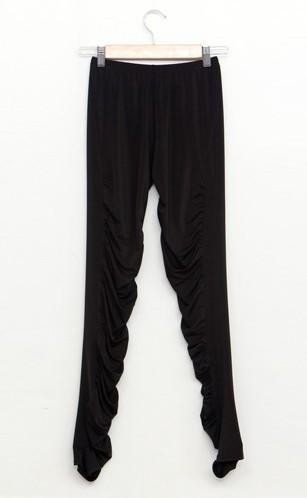 Women-ruffled-T-shirt-tank-tee-top-tunic-dress-mesh-skinny-sexy-legging-pants