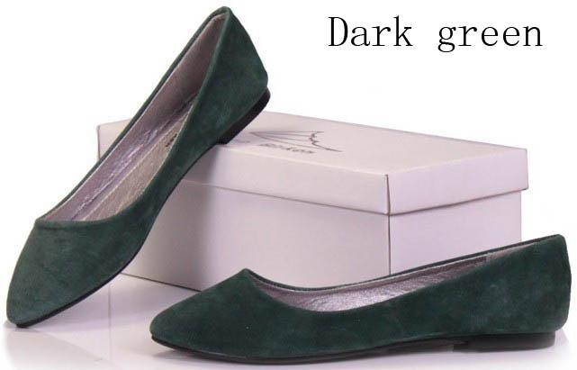 CLEARANCE-Genuine-leather-women-shoes-pointy-toe-slipper-loafer-ballet-flats