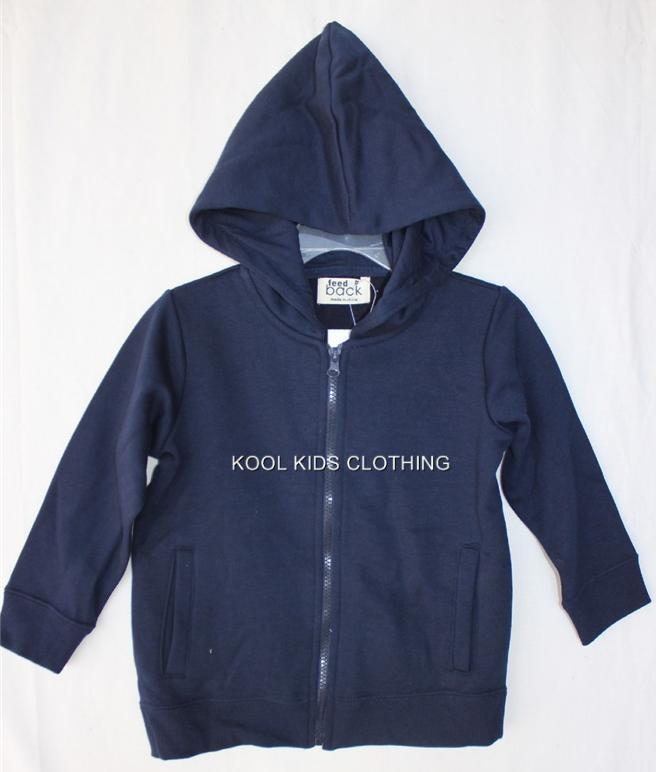 BOYS-OR-GIRLS-NAVY-BLUE-FLEECE-ZIP-UP-HOODIE-JACKET-NWT-SIZE-3