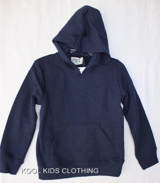 BOYS-OR-GIRLS-SIZE-7-NAVY-BLUE-FLEECE-HOODIE-JUMPER-NWT