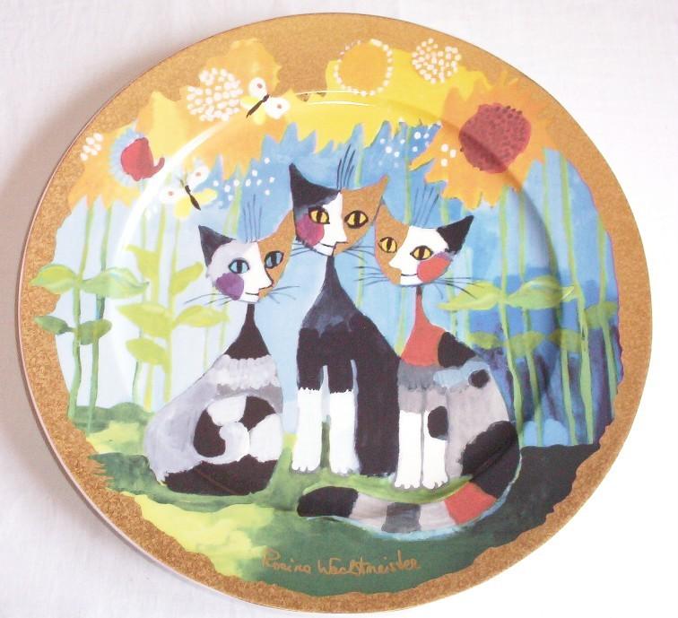goebel rosina wachtmeister cat charger plate tre gatti e girasole, Garten seite