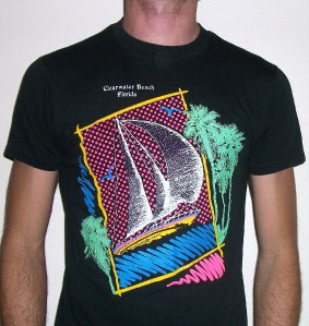 Vtg Clearwater Florida T Shirt Retro 80s Indie Emo Punk