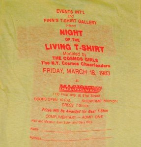 Vtg 1983 NEW YORK FINNS NIGHT LIVING SHIRT retro 80s