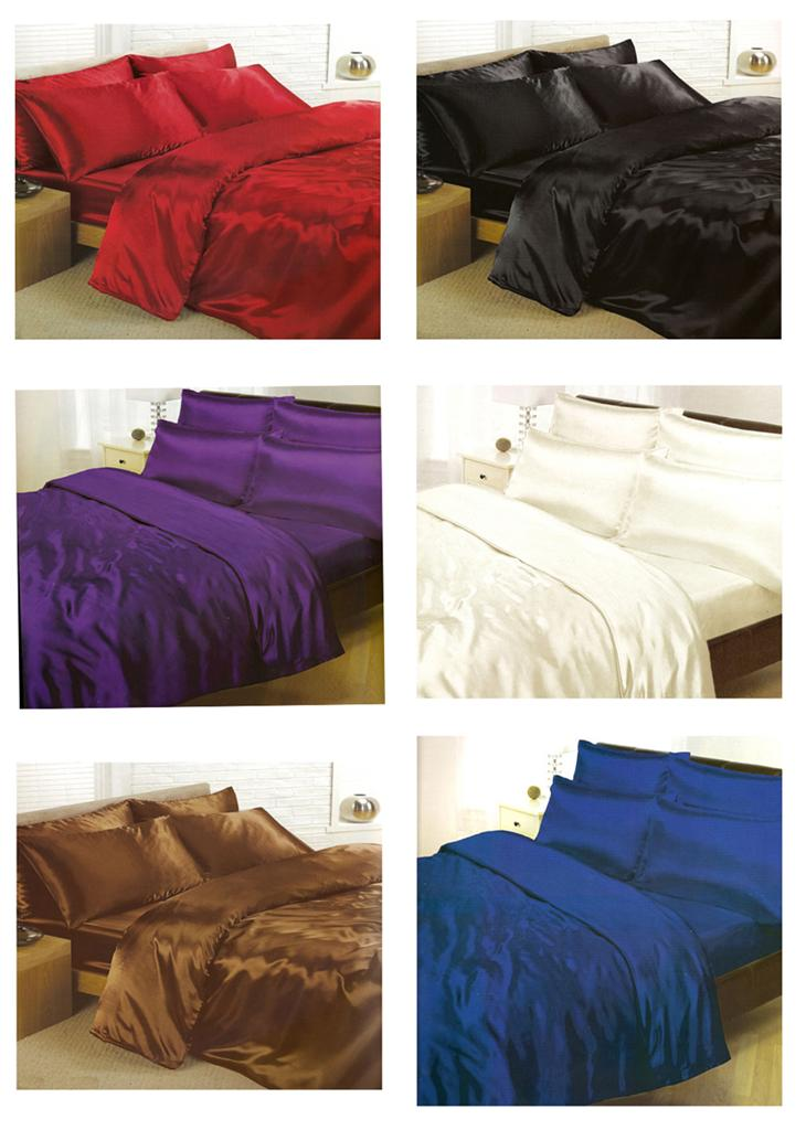 About Satin Bedding Sets 6 Piece Set Duvet Cover Fitted