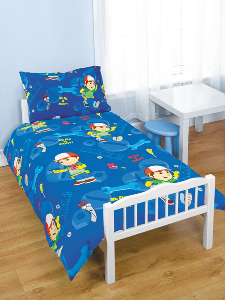 handy manny junior cot bed duvet cover set bundle. Black Bedroom Furniture Sets. Home Design Ideas