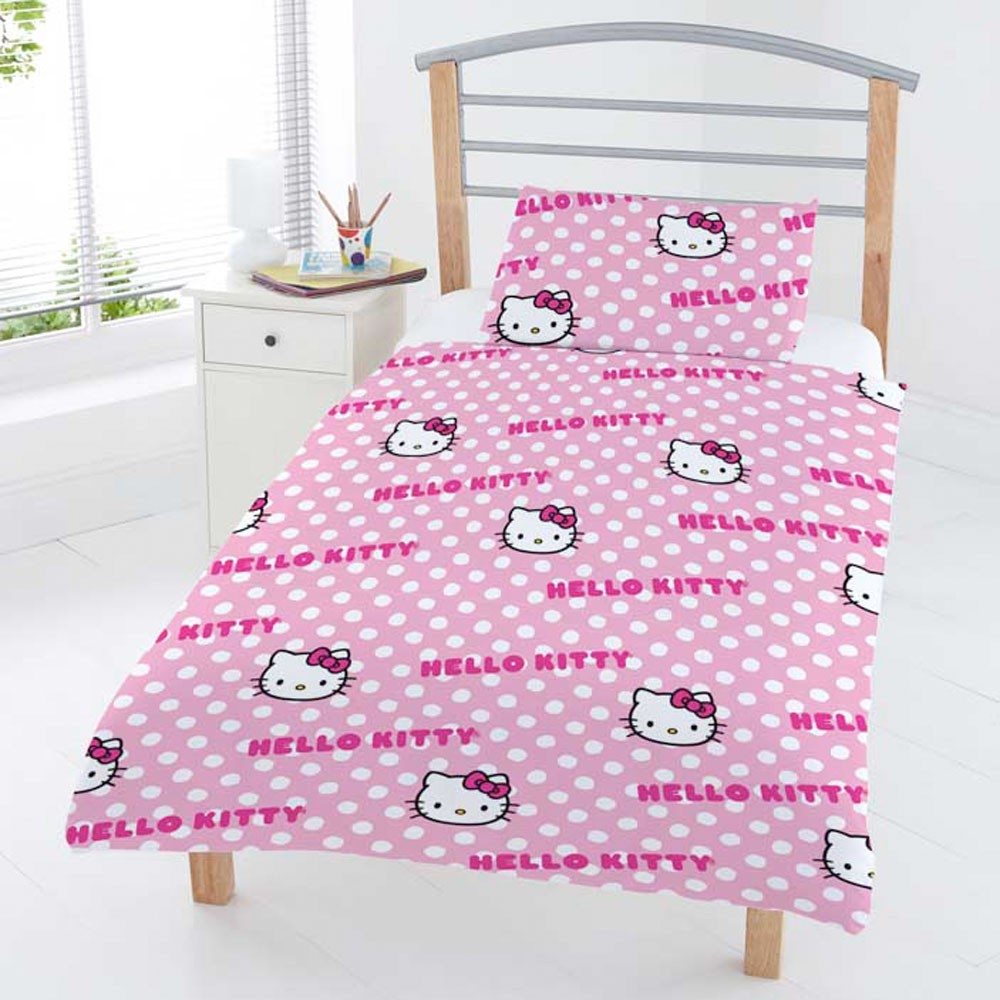 HELLO KITTY JUNIOR TODDLER BED WITH STORAGE MATTRESS