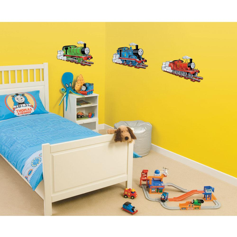 Thomas the tank engine foam element wall stickers for Bedroom nothing lasts chords