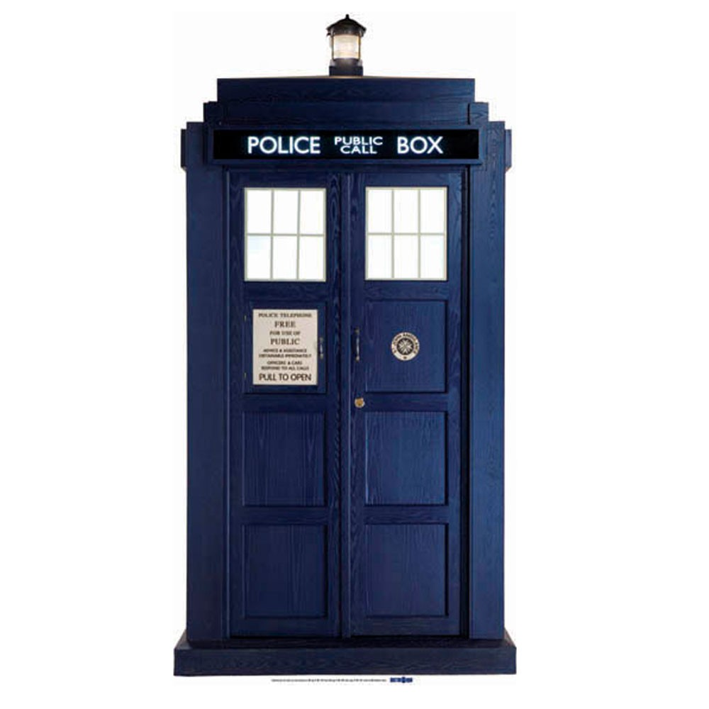 Doctor dr who 39 tardis 39 large cardboard cut out new ebay for Large cardboard cut out numbers