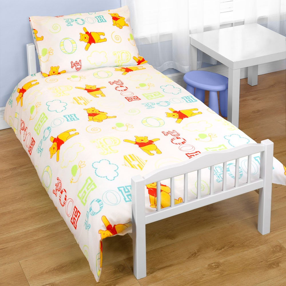 Winnie the pooh toddler bedding - Childrens Cot Bed Junior Toddler Duvet Cover New