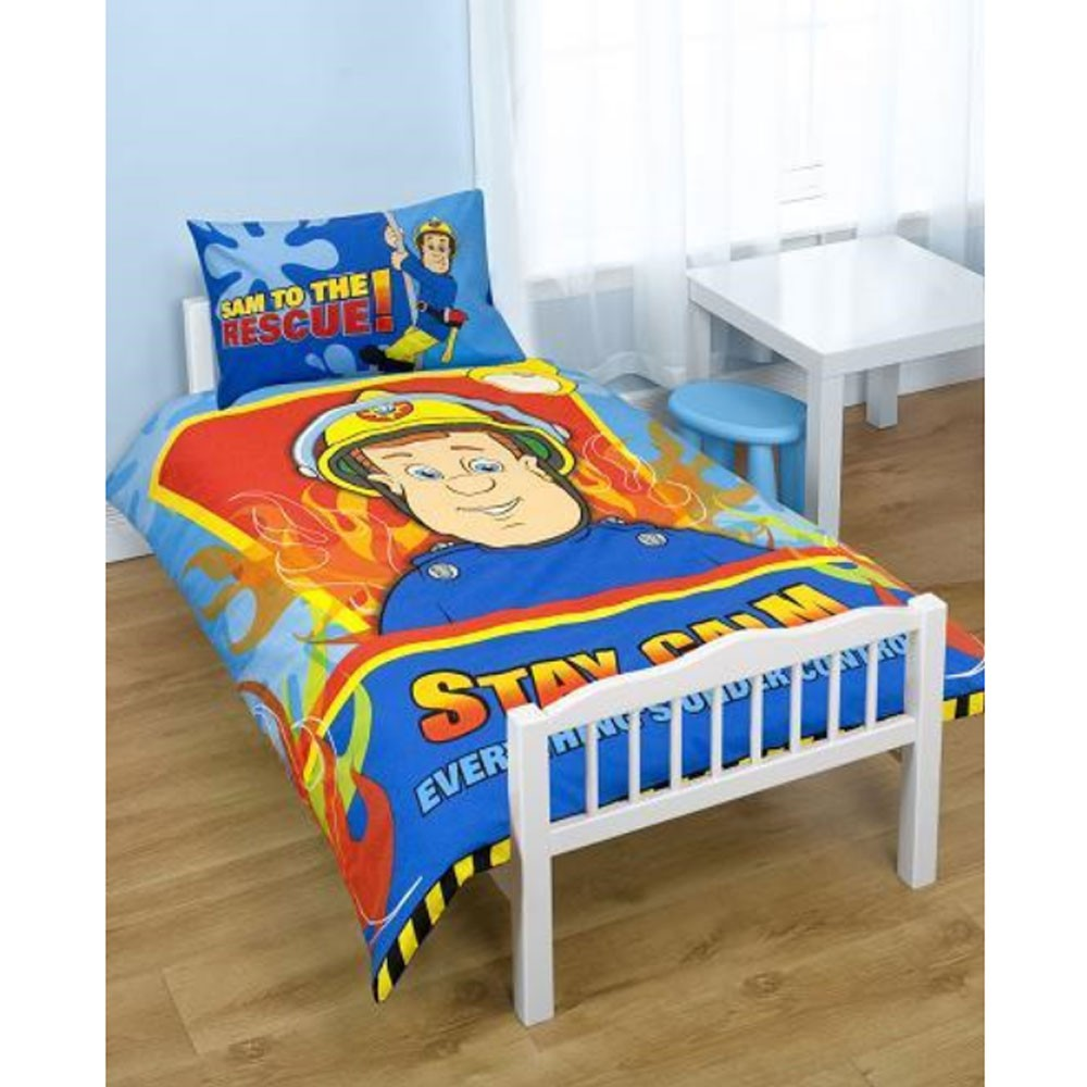 parure housse de couette lit bebe enfant fireman sam 39 hero. Black Bedroom Furniture Sets. Home Design Ideas