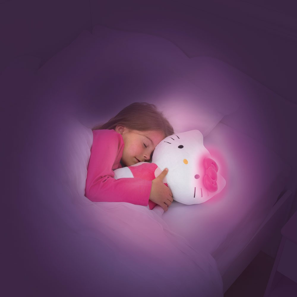 hello kitty go glow pal light up cuddle toy new night ebay. Black Bedroom Furniture Sets. Home Design Ideas