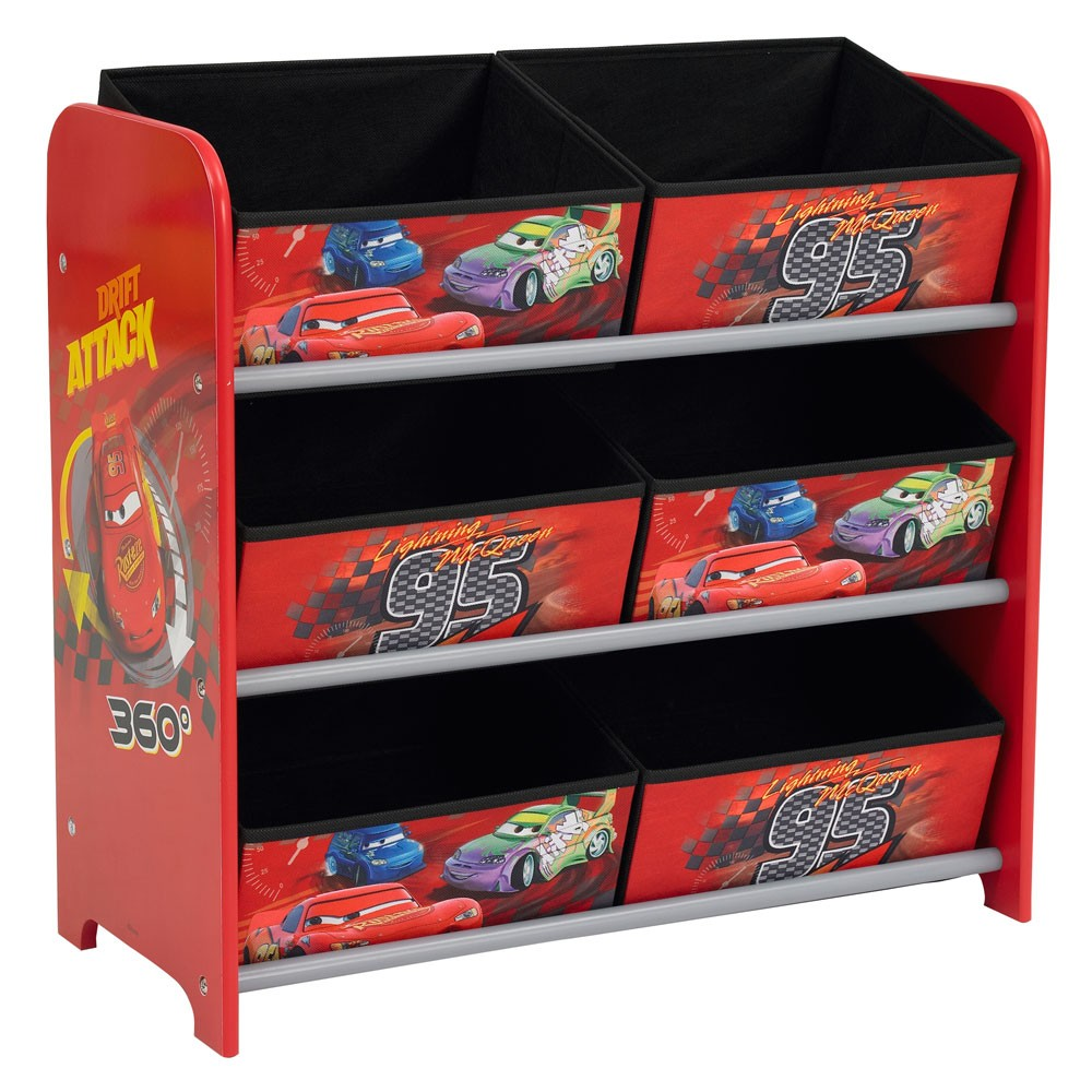 details about disney cars 6 bin toy storage unit bedroom furniture