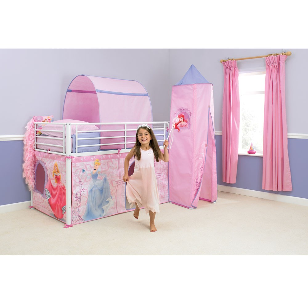 Disney Princess Mid Sleeper Cabin Bed Tent New Boxed | eBay