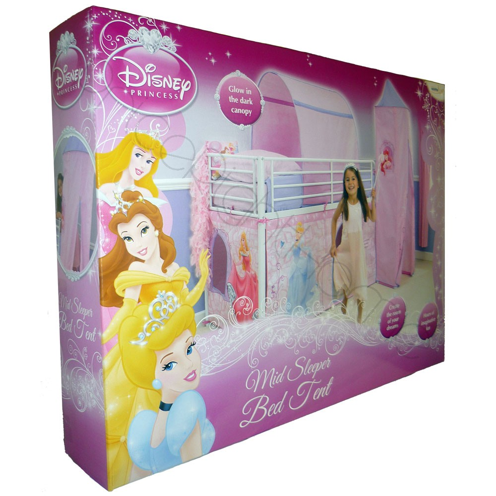 ... tent · official disney princess licenced product ...  sc 1 st  White Bed & Disney Princess Bed Tent - White Bed