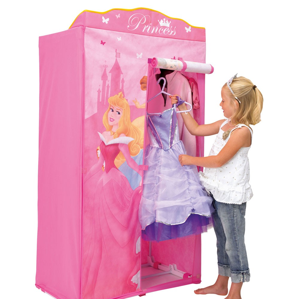 disney princess fabric wardrobe bedroom furniture new ebay. Black Bedroom Furniture Sets. Home Design Ideas
