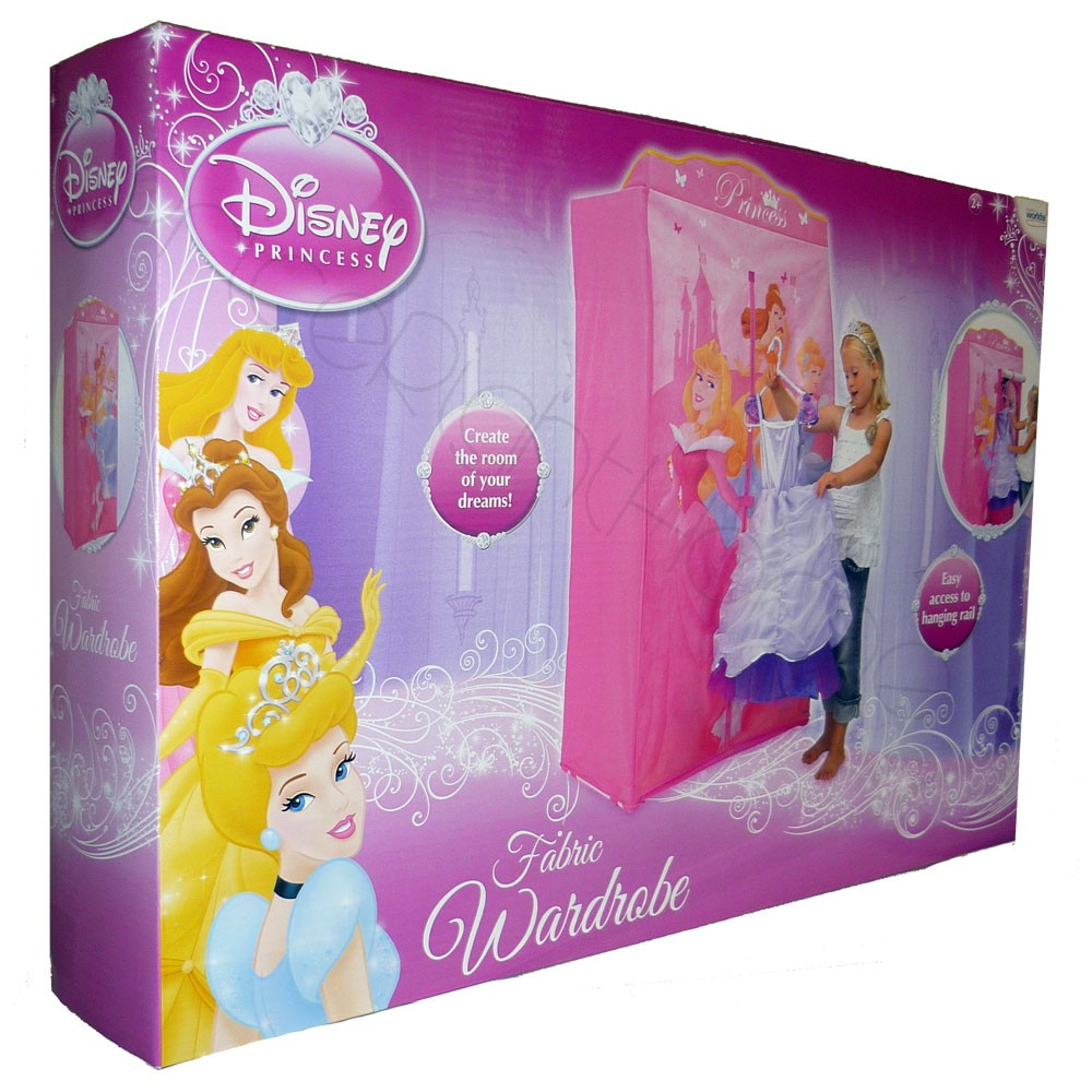 Disney princess fabric wardrobe bedroom furniture bnib ebay for Bedroom nothing lasts chords